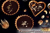 Фото к рецепту: Тарталетки с шоколадом