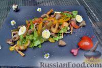 Фото к рецепту: Салат с куриными сердечками
