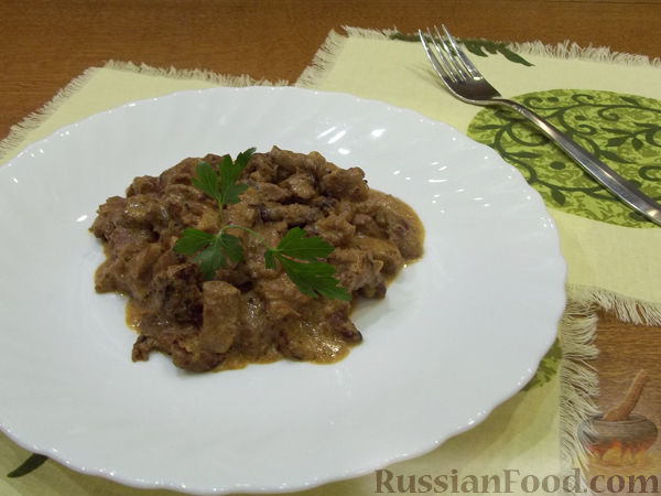 Рецепт Свинина в сметане
