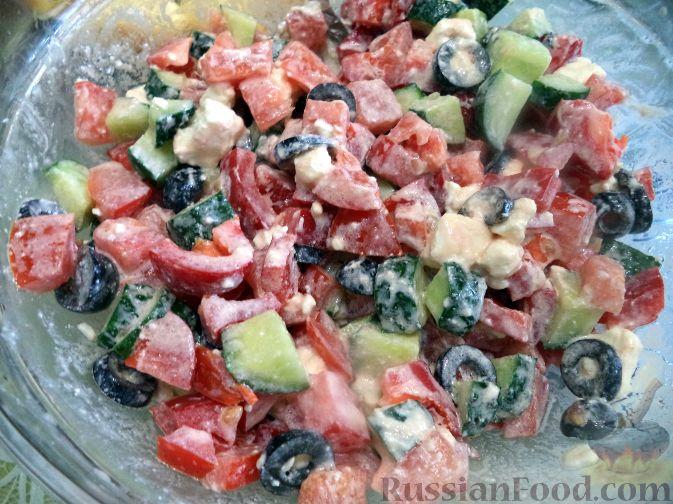 Рецепт Греческий салат на скорую руку