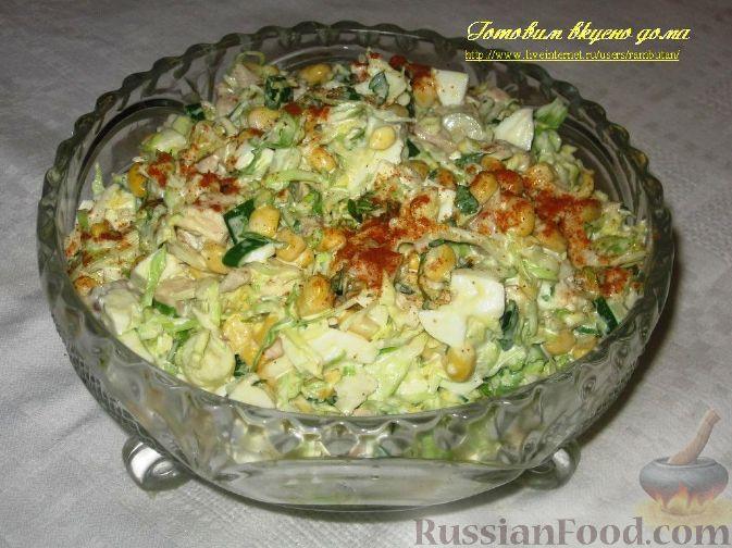 Рецепт Салат с курицей и капустой