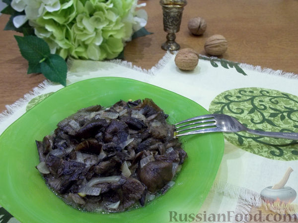 Рецепт Грибы, жаренные с луком