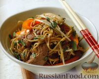 Фото к рецепту: Лапша с мясным соусом
