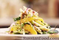 Фото к рецепту: Тосканский салат с фенхелем, апельсинами и орешками