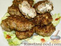 Фото к рецепту: Котлеты с сырной начинкой