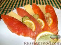Фото к рецепту: Соленая красная рыба