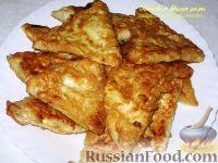 Фото к рецепту: Бендерики из лаваша с творогом и капустой