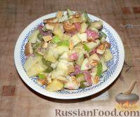Фото к рецепту: Фруктовый салат с печеньем
