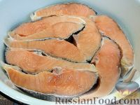 Фото приготовления рецепта: Красная рыба, запеченная в духовке - шаг №4