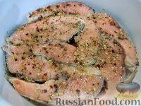 Фото приготовления рецепта: Красная рыба, запеченная в духовке - шаг №5