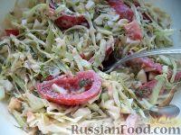 Фото к рецепту: Легкий салат из капусты