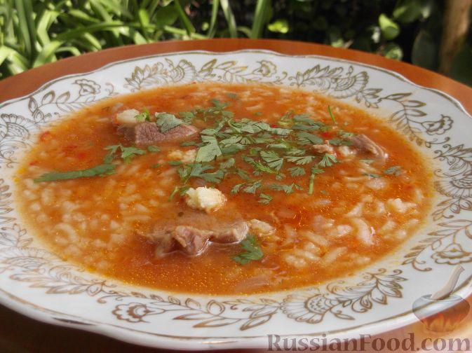 Рецепт Острый суп-харчо