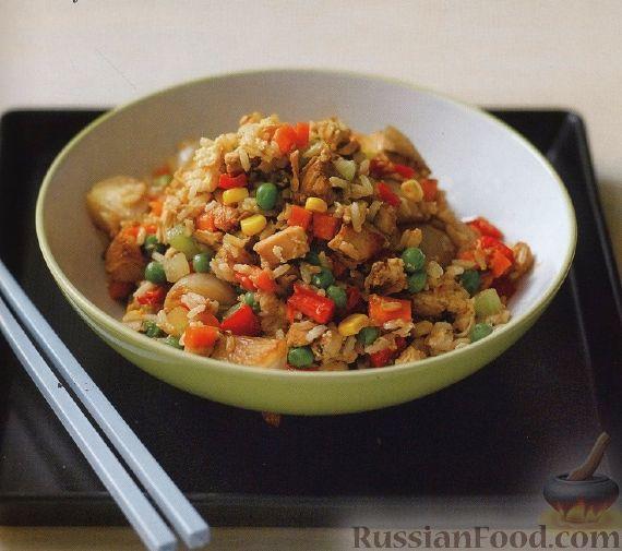 Рецепт Рис с курицей и овощами