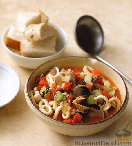 Рецепт Рагу из морепродуктов в томатном соусе