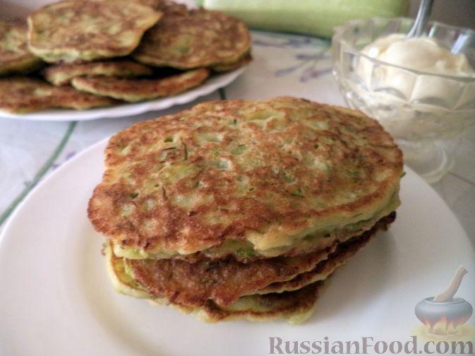 Рецепт Закусочные оладьи кабачковые