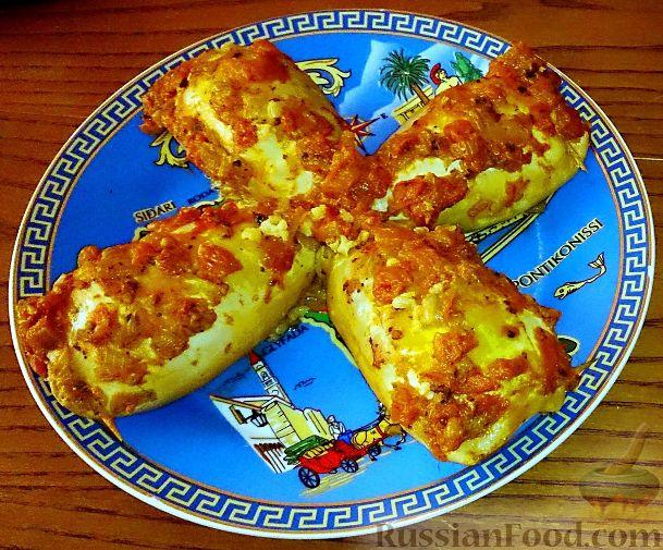 Рецепт Кальмары, фаршированные рисом (Yemisto kalamari me ryzi)