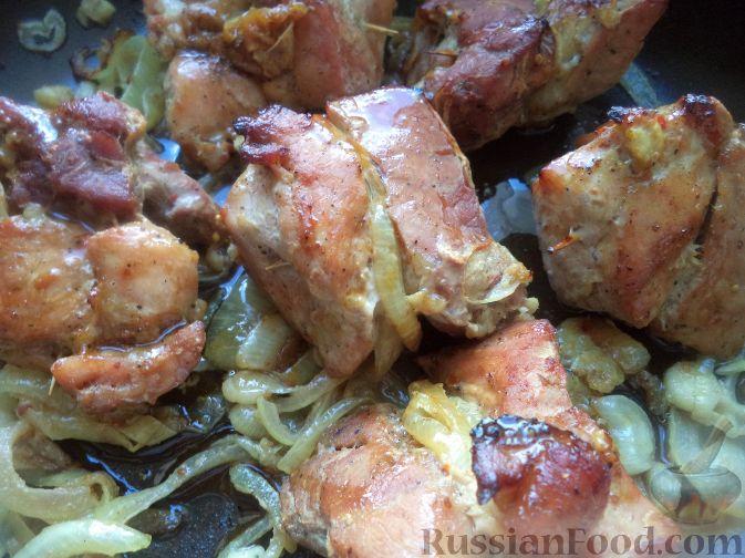 Рецепт Шашлык свиной в духовке