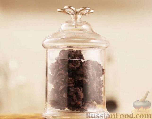 Рецепт Криспи из черного шоколада с фундуком