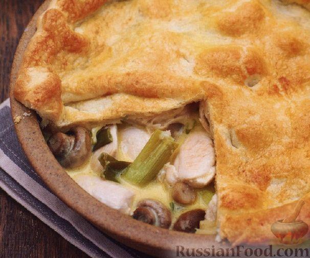 Рецепт Закрытый пирог с курицей