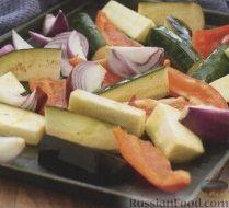 Фото приготовления рецепта: Закусочные рулеты с печеными овощами и сыром - шаг №1