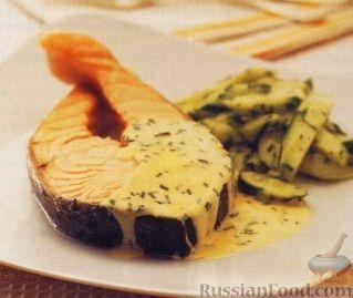 Рецепт Лосось со сливочным соусом