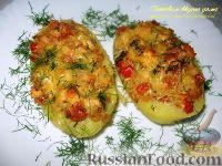 Фото к рецепту: Картофельные лодочки, фаршированные курицей и овощами
