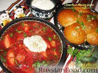 Фото к рецепту: Борщ по-украински