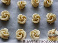 """Фото приготовления рецепта: Творожное печенье """"Розочки"""" - шаг №9"""