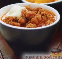 Фото к рецепту: Соус из индюшиного фарша и фасоли