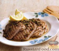 Фото к рецепту: Жареный тунец с лимонным соусом