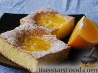 Фото к рецепту: Открытый пирог с апельсинами