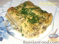Фото к рецепту: Каннеллони с грибами