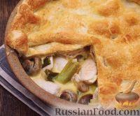 Фото к рецепту: Закрытый пирог с курицей