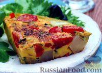 """Фото к рецепту: Испанский омлет """"тортилья"""" с овощами"""