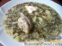 Фото к рецепту: Суп из щавеля с курицей