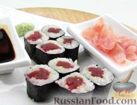 Фото к рецепту: Суши Тэка-маки