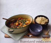 Фото к рецепту: Ягнятина с тыквой и курагой
