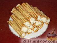 Фото к рецепту: Вафли-трубочки