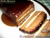Фото к рецепту: Десерт из манной крупы с шоколадом