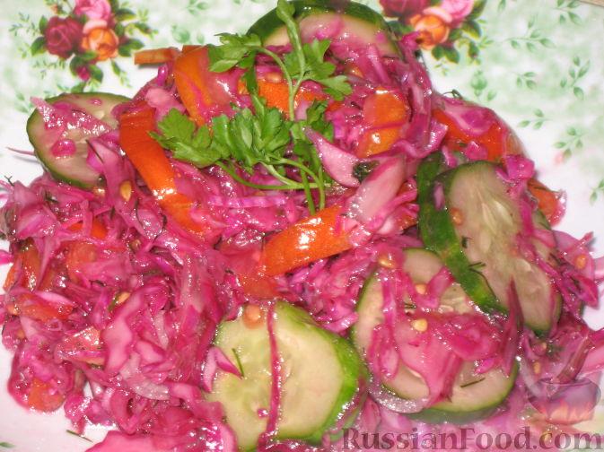 Рецепт салата из краснокочанной капусты с фото