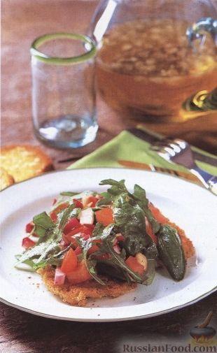Рецепт Телячьи отбивные с салатом из рукколы
