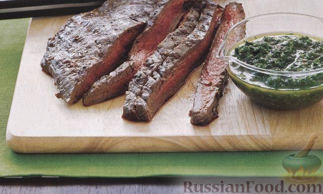 Рецепт Жареная телятина с чесночным соусом