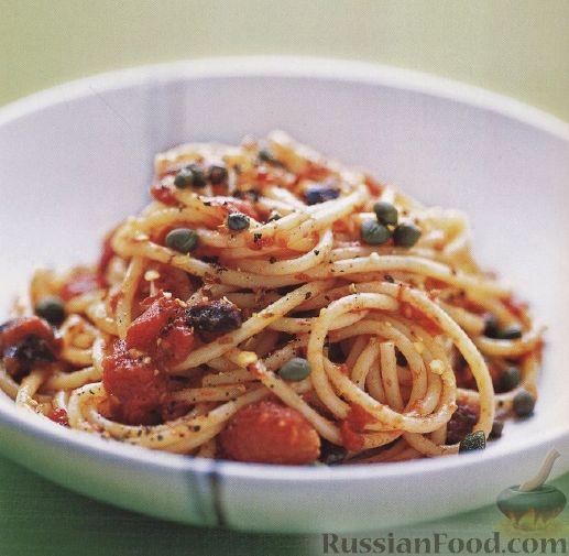 Рецепт Спагетти путанеска
