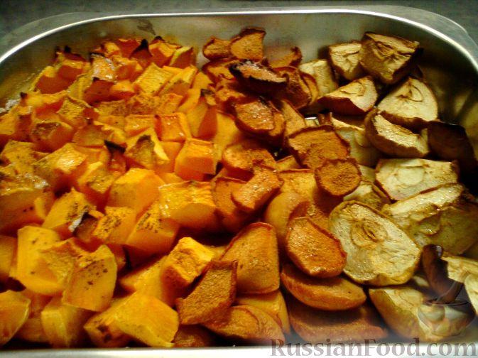 как запечь тыкву с яблоками в духовке рецепт
