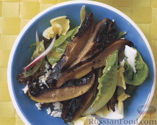 Рецепт Салат с жареными грибами