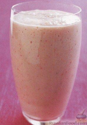 Рецепт Персиково-клубничный смузи