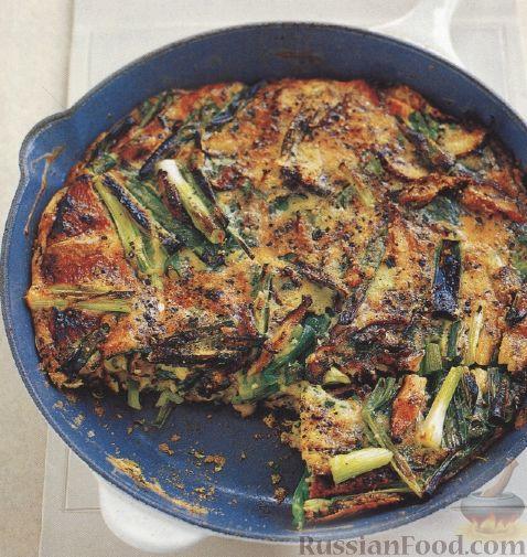 Рецепт Фриттата с грибами и луком