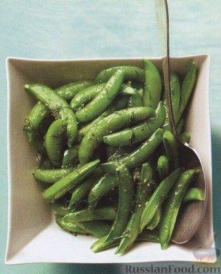 Рецепт Жареный стручковый зеленый горошек