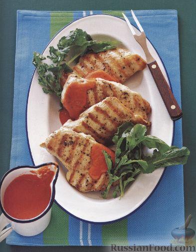 Рецепт Куриная грудка на гриле с перечным соусом