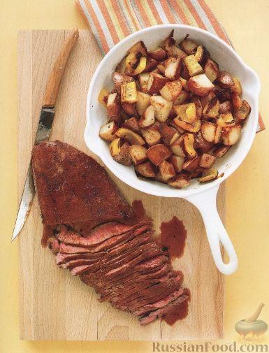 Рецепт Телятина с жареным картофелем